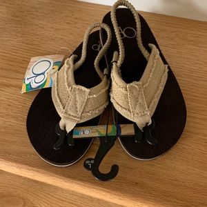 NWT Boys Ocean Pacific OP Tan Sandals L (9-10)